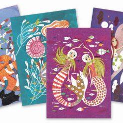 Kreslenie s farebnými gliterkami - Morské panny 2