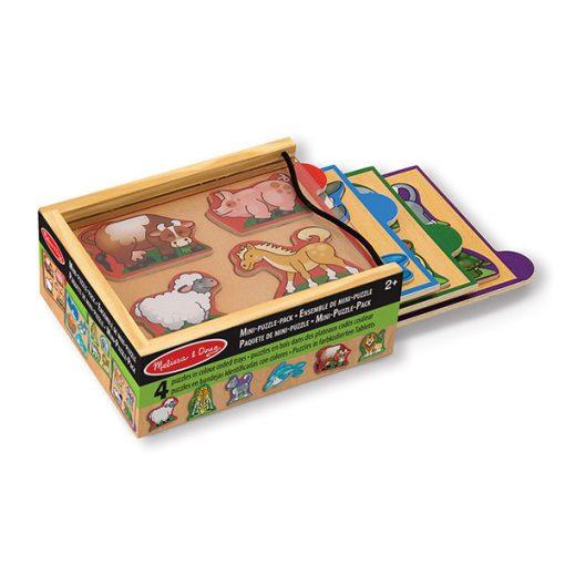 Mini puzzle set - Zvieratá 1