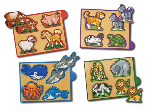 Mini puzzle set - Zvieratá 2