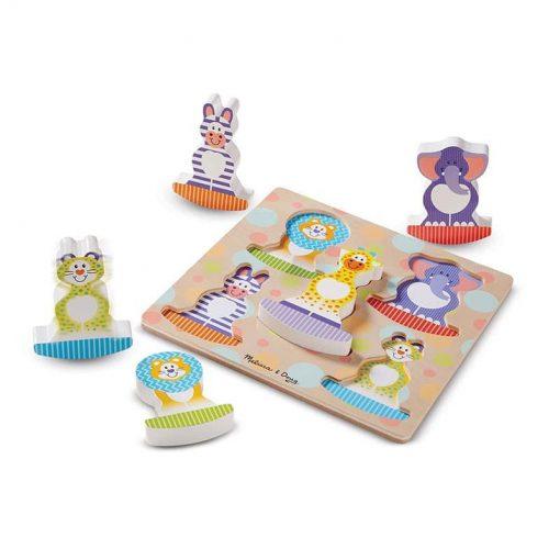 Moja prvá hračka - Hojdacie puzzle Safari 2