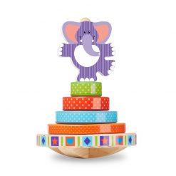 Moja prvá hračka - Navliekací hojdací sloník 1