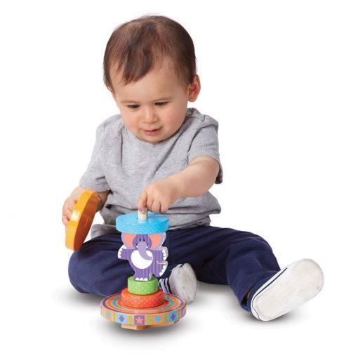 Moja prvá hračka - Navliekací hojdací sloník 4