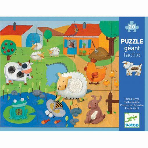 Obrovské puzzle Farma s rozličnými plochami na rozvíjanie hmatu 1