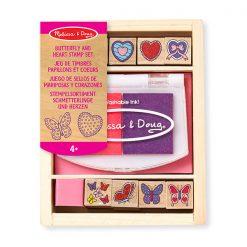 Pečiatková sada - Motýle a srdce 1