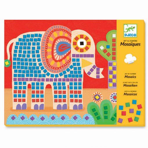 Penová mozaika - Slon a slimák 1