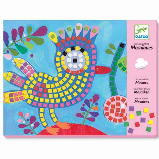 Penová mozaika - Vtáčik a lienka 1