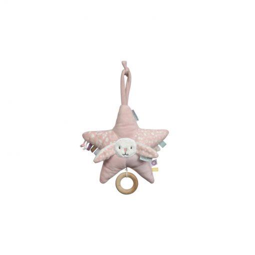 Plyšová hracia hviezda Zajačik - ružová 1