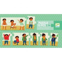 Postupové puzzle - Obliekam sa 1