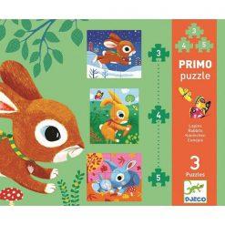 Primo puzzle pre najmenších Zajace 1