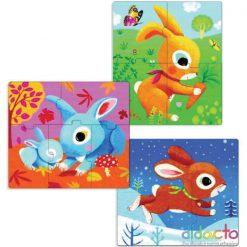 Primo puzzle pre najmenších Zajace 2