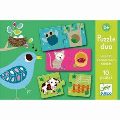 Puzzle duo - Kde žijú zvieratká 1