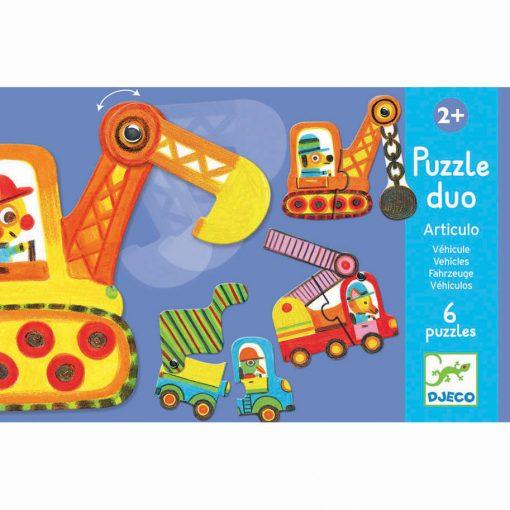 Puzzle Duo - Pohyblivé vozidlá 1