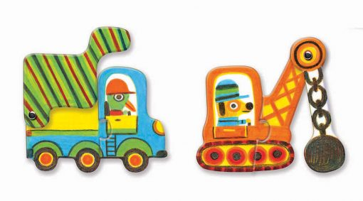 Puzzle Duo - Pohyblivé vozidlá 2