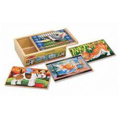 Puzzle v krabici - Domáce zvieratá 1