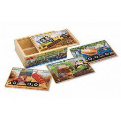 Puzzle v krabici - Stavebné autá 1