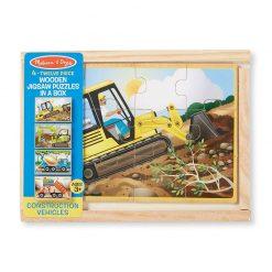 Puzzle v krabici - Stavebné autá 3