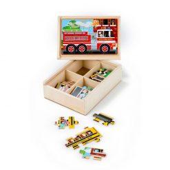 Puzzle v krabici - Vozidlá 1