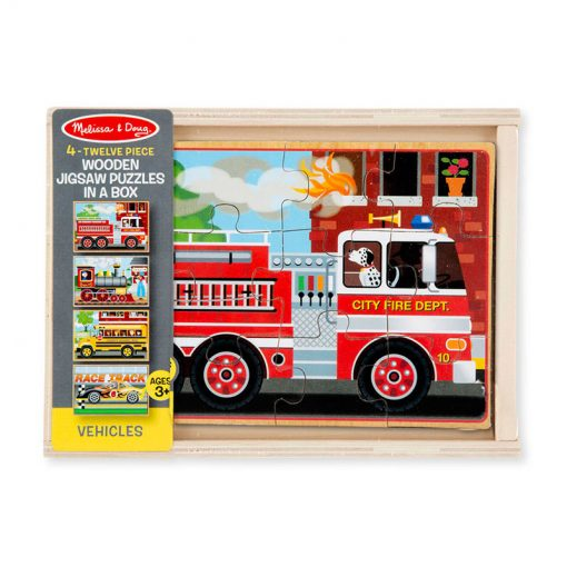 Puzzle v krabici - Vozidlá 3