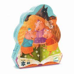 Puzzle v tvarovanom balení - 3 prasiatka 1
