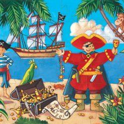 Puzzle v tvarovanom balení - Pirát 2