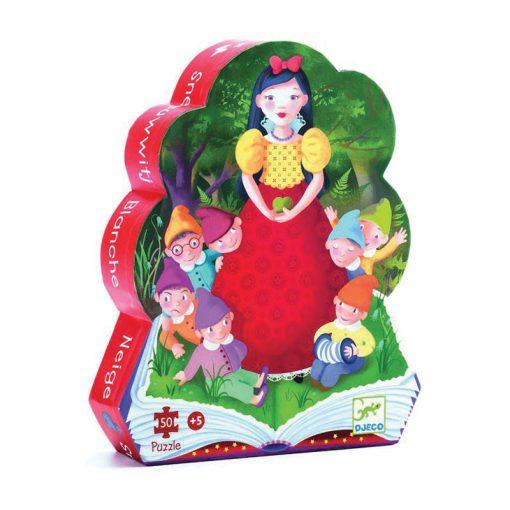 Puzzle v tvarovanom balení Snehulienka a sedem tpaslíkov 1