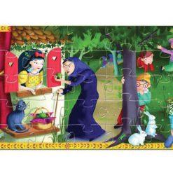 Puzzle v tvarovanom balení Snehulienka a sedem tpaslíkov 2