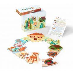 Smart Wonders - Príbehové puzzle - Zlatovláska a tri medvede 1