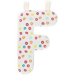 Textilné písmeno F 1