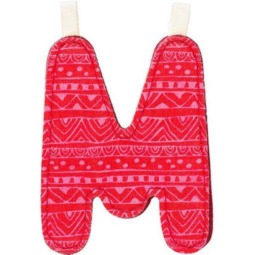 Textilné písmeno M 1
