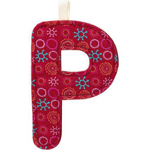 Textilné písmeno P 1