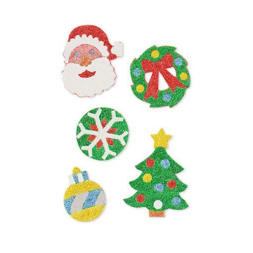 Trblietavé nálepky - Vianočné ozdoby 2