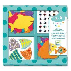 Tvorenie so samolepkami - Moje milé rybky 1