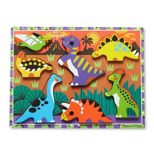 Vkladacie puzzle - Dinosaury 1