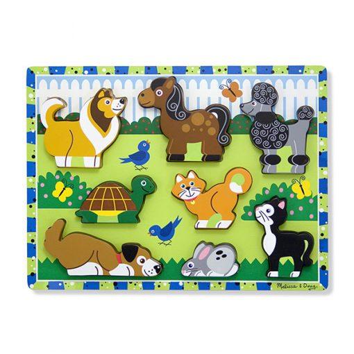 Vkladacie puzzle - Domáce zvieratká 1