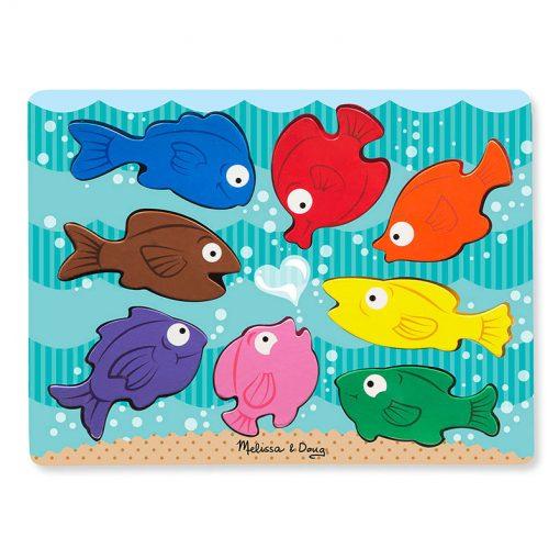 Vkladacie puzzle - Farebné rybky 1