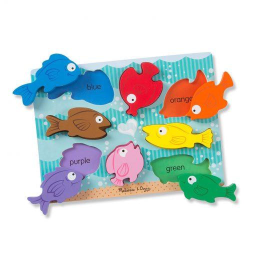 Vkladacie puzzle - Farebné rybky 2