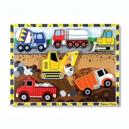 Vkladacie puzzle - Stavebné autá 1