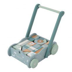 Vozíček s kockami - modrá 1