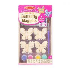 Vyzdob si sám - Drevené motýlikove magnetky 1