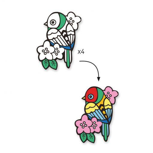 Zamatová maľovanka - Vtáčatká 2