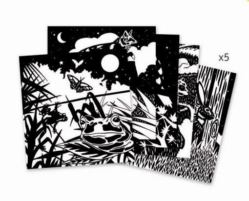 Zamatová omaľovanká - Les 2