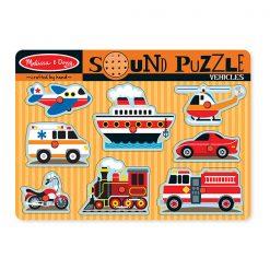 Zvukové puzzle - Dopravné prostriedky 1