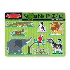 Zvukové puzzle - Zoo zvieratká 1