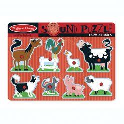 Zvukové puzzle - Zvieratá z farmy 1