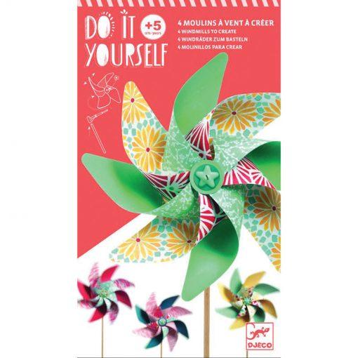 DIY Vrtuľky - Pastelové farby 1