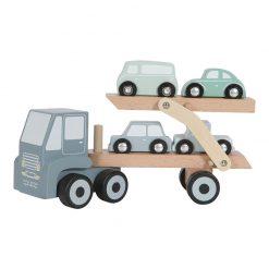 Drevený nákladiak + 4 autíčka 1