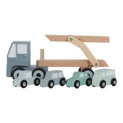Drevený nákladiak + 4 autíčka 2