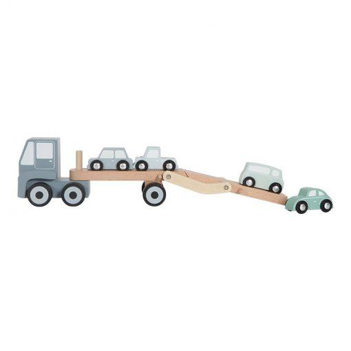 Drevený nákladiak + 4 autíčka 3