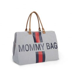 Prebalovacia taška Mommy bag Grey Stripes Red Blue  3