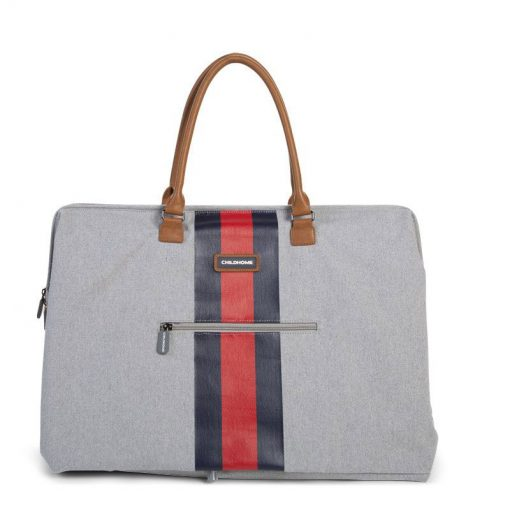 Prebalovacia taška Mommy bag Grey Stripes Red Blue  4